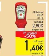 Oferta de Ketchup Heinz por 2.8€
