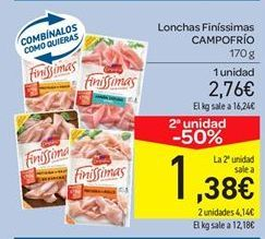 Oferta de Lonchas Finíssimas CAMPOFRÍO por 2.76€
