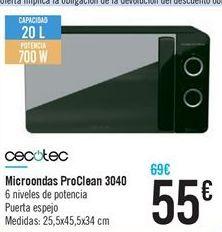 Oferta de Microondas ProClean 3040 por 55€