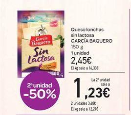 Oferta de Queso lonchas sin lactosa GARCÍA BAQUERO por 2.45€