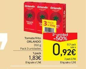 Oferta de Tomate frito  por 1.83€