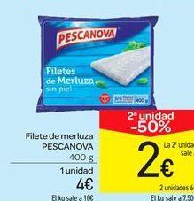 Oferta de Filete de merluza PESCANOVA por 4€