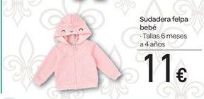 Oferta de Sudadera felpa bebé por 11€