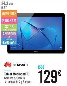 Oferta de Tablet mediapad T3 por 129€