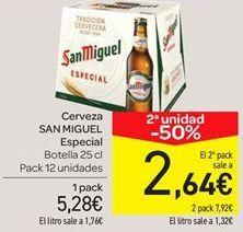 Oferta de Cerveza San Miguel especial  por 5.28€