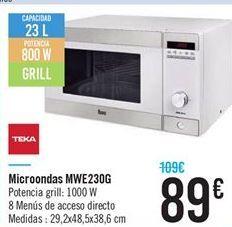 Oferta de Microondas MWE230G por 89€