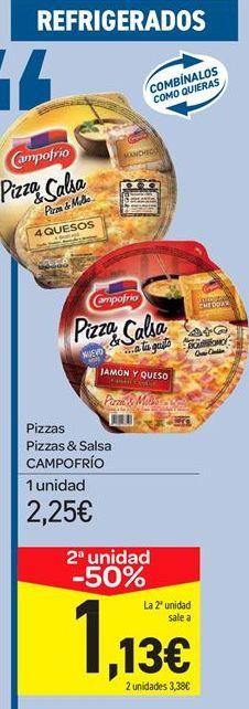 Oferta de Pizzas Pizzas & Salsa CAMPOFRÍO por 2.25€