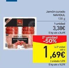 Oferta de Jamón curado Navidul por 3.38€