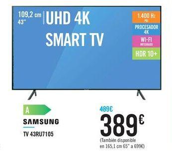 Oferta de TV 43RU7105 por 389€