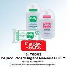 Oferta de En TODOS los productos de higiene íntima CHILLY por