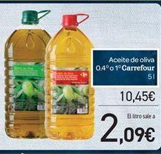 Oferta de Aceite de oliva 0.4 o 1 Carrefour por 10.45€