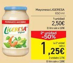 Oferta de Mayonesa Ligeresa por 2.5€