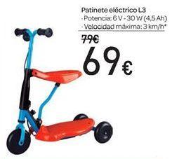 Oferta de Patinete eléctrico L3 por 69€