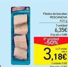 Oferta de Filetes de bacalao Pescanova por 6.35€