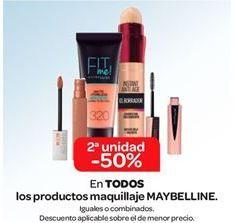 Oferta de En TODOS los productos de maquillaje MAYBELLINE por