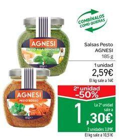 Oferta de Salsas Pesto AGNESI  por 2.59€