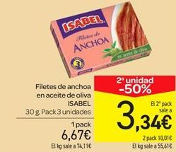 Oferta de Filetes de anchoa en aceite de oliva por 6.67€
