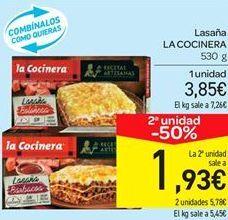 Oferta de Lasaña La Cocinera por 3.85€