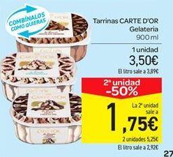 Oferta de Tarrina de helado Carte d'Or por 3.5€