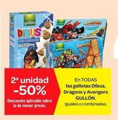 Oferta de Galletas Dibus, dragons y Avengers  por