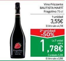 Oferta de Vino Frizzante BAUTISTA MARTÍ Fragolino por 3.55€