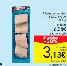 Oferta de Filetes de bacalao Pescanova por 6.25€