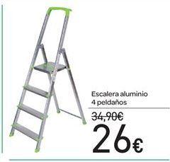 Oferta de Escalera aluminio 4 peldaños por 26€