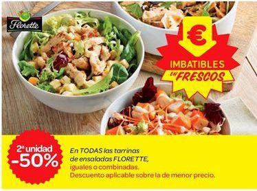 Oferta de En TODAS las tarrinas de ensaladas FLORETTE por