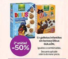 Oferta de En galletas infantiles sin lactosa Dibus GULLÓN por