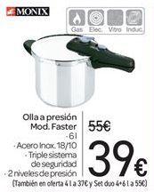 Oferta de Olla a presión Mod. Faster  por 39€