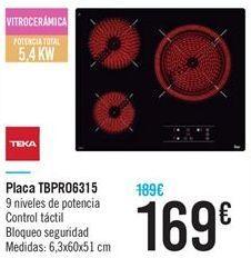Oferta de Placa TBPR06315 por 169€