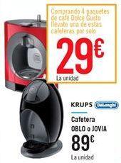 Oferta de Cafetera OBLO o  JOVIA  por 89€