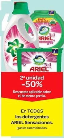 Oferta de En TODOS los detergentes ARIEL Sensaciones por
