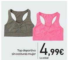 Oferta de Top deportivo sin costuras mujer por 4.99€