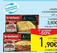 Oferta de Lasaña La Cocinera por 3.8€
