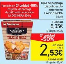 Oferta de Tiras de pechuga de pollo estilo americano por 5.05€