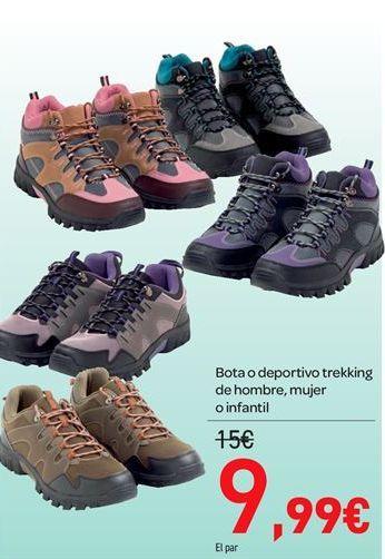 Oferta de Bota o deportivo trekking de hombre, mujer o infantil por 9.99€