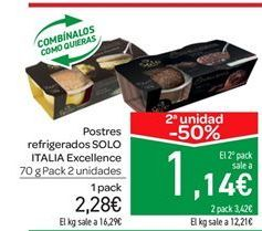 Oferta de Postres refrigerados SOLO ITALIA Excellence por 2.28€