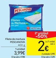 Oferta de Filete de merluza PESCANOVA por 3.99€
