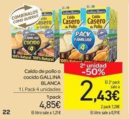 Oferta de Caldo de pollo o cocido  por 4.85€