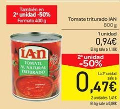 Oferta de Tomate triturado ian por 0.94€