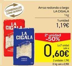 Oferta de Arroz redondo o largo por 1.19€