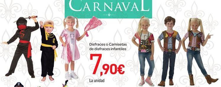 Oferta de Disfraces o camisetas de disfraces por 7.9€