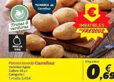 Oferta de Patata lavada Carrefour por 3.45€
