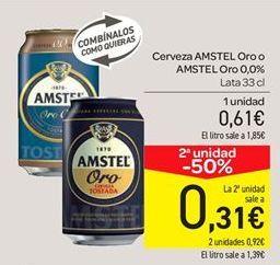 Oferta de Cerveza Amstel oro o Amstel oro 0.0% por 0.61€