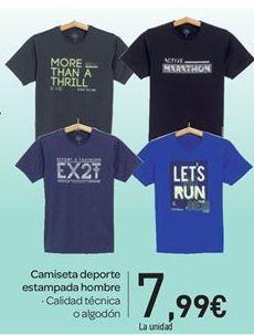 Oferta de Camiseta deporte estampada hombre por 7.99€