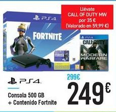 Oferta de Consola 500 GB  por 249€