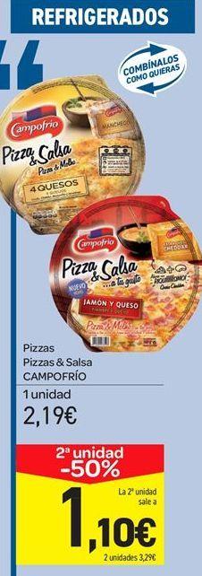 Oferta de Pizzas Pizzas & Salsa CAMPOFRÍO por 2.19€