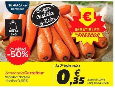 Oferta de Zanahorias Carrefour por 0.69€