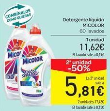 Oferta de Detergente líquido MICOLOR por 11.62€